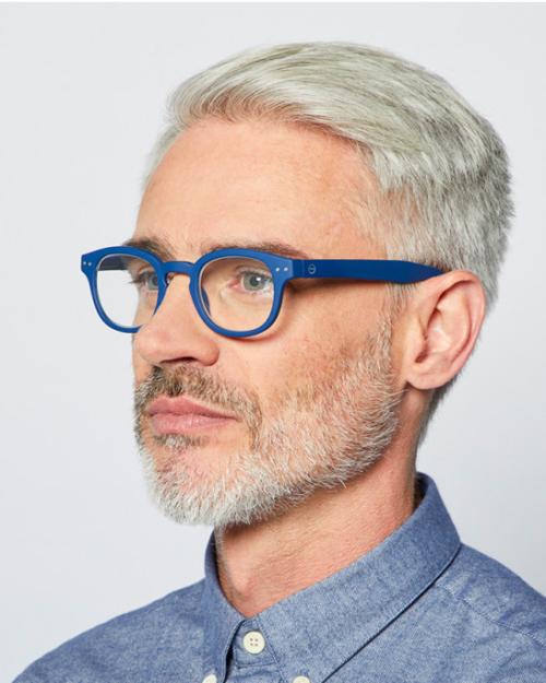 fashion reading glasses frame C navy Blue by Izipizi