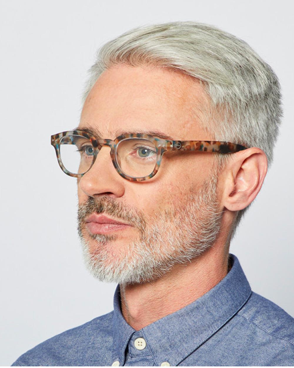 reading glasses blue tortoise frame C By Izipizi