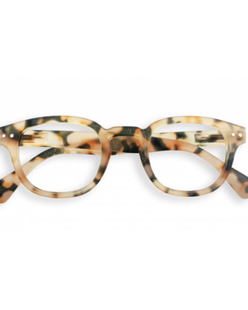 Light tortoise fashion reading glasses frame C by Izipizi